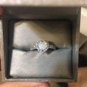 Heart opal ring from zales